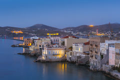 Syros. Vaporia district of Ermoupoli town on Syros island Royalty Free Stock Photos