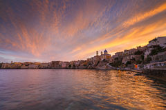 Syros. Vaporia district of Ermoupoli town on Syros island Royalty Free Stock Images