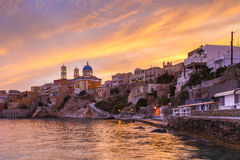 Syros. Vaporia district of Ermoupoli town on Syros island Royalty Free Stock Image