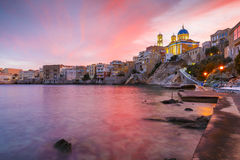 Syros. Vaporia district of Ermoupoli town on Syros island Stock Photo