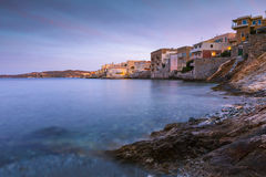 Syros. Vaporia district of Ermoupoli town on Syros island Stock Images