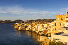 Syros. Vaporia district of Ermoupoli town on Syros island Stock Photography