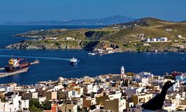 Syros. View of the port on Syros island Greece Royalty Free Stock Photography