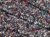 Syrsafolkmassa Indien Arkivbild