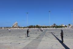 Syrsamatch i benghazi arkivbilder