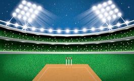 Syrsastadion med neonljus argentina stock illustrationer