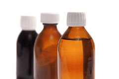 Syrup Bottles royalty free stock photo