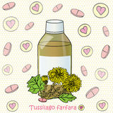Syrup and coltsfoot Royalty Free Stock Photos