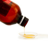 Syrup cough Royalty Free Stock Photography