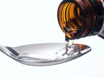 Syrup cure. Royalty Free Stock Photo