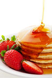 Syrup Pouring on Pancakes Royalty Free Stock Photo