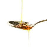 Syrup in spoon Royalty Free Stock Photography