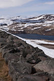 Sysen Dam and Reservoir, Norway Royalty Free Stock Image