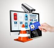 Syserm de contrôle d'accès de stationnement image stock