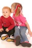 syskon två Royaltyfria Bilder
