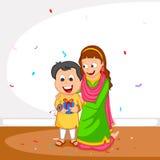 Syskongrupp i Raksha Bandhan Royaltyfria Bilder