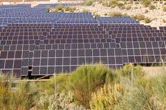 Système électrique de panneau solaire Photo stock