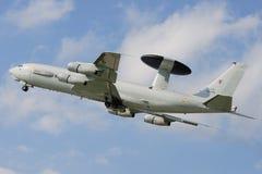 Système aéroporté de détection et de contrôle de Boeing E-3A Photos libres de droits
