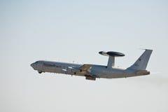 Système aéroporté de détection et de contrôle de sentinelle de Boeing E-3A Photographie stock