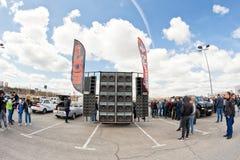 Système audio de musique de puissance de voiture Photos stock