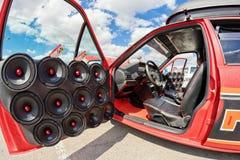 Système audio de musique de puissance de voiture Image stock