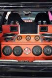 Système audio fait sur commande de voiture images libres de droits