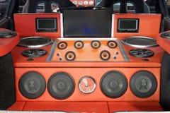 Système audio puissant de voiture images stock