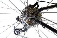 Système changeant de trains arrière de bicyclettes photographie stock