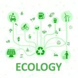Système d'écologie de concept - vecteur illustration de vecteur