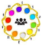 Système d'équipe de cercle illustration stock