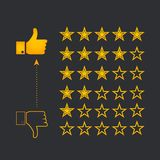 Système d'évaluation d'étoile illustration stock