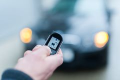 Système d'alarme de degré de sécurité de voiture ouvert photos libres de droits