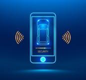 Système d'alarme intelligent de voiture Photographie stock