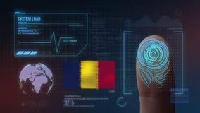 Système d'identification de balayage biométrique d'empreinte digitale Chad Nationality illustration libre de droits
