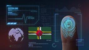 Système d'identification de balayage biométrique d'empreinte digitale Dominica Nationality illustration libre de droits