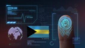 Système d'identification de balayage biométrique d'empreinte digitale La nationalité des Bahamas illustration libre de droits