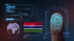 Système d'identification de balayage biométrique d'empreinte digitale La nationalité de la Gambie illustration stock