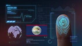 Système d'identification de balayage biométrique d'empreinte digitale Nationalité de Belize illustration stock