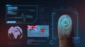 Système d'identification de balayage biométrique d'empreinte digitale Nationalité des Fidji image libre de droits