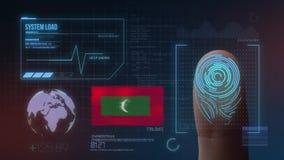 Système d'identification de balayage biométrique d'empreinte digitale Nationalité des Maldives