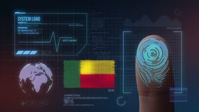Système d'identification de balayage biométrique d'empreinte digitale Nationalité du Bénin illustration de vecteur