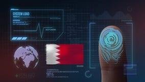 Système d'identification de balayage biométrique d'empreinte digitale Nationalité du Bahrain illustration de vecteur