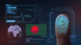 Système d'identification de balayage biométrique d'empreinte digitale Nationalité du Bangladesh illustration de vecteur