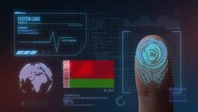 Système d'identification de balayage biométrique d'empreinte digitale Nationalité du Belarus illustration libre de droits