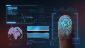 Système d'identification de balayage biométrique d'empreinte digitale Nationalité du Botswana illustration libre de droits