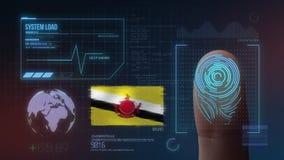 Système d'identification de balayage biométrique d'empreinte digitale Nationalité du Brunei illustration libre de droits