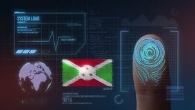 Système d'identification de balayage biométrique d'empreinte digitale Nationalité du Burundi