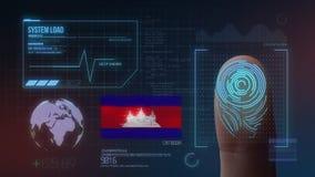 Système d'identification de balayage biométrique d'empreinte digitale Nationalité du Cambodge illustration libre de droits