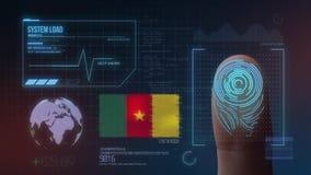Système d'identification de balayage biométrique d'empreinte digitale Nationalité du Cameroun illustration libre de droits