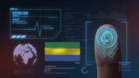 Système d'identification de balayage biométrique d'empreinte digitale Nationalité du Gabon illustration de vecteur